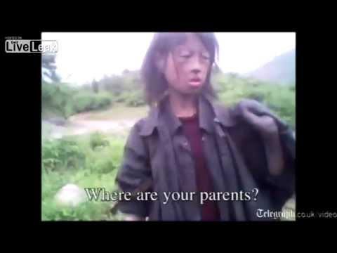 Starving North Korean girl