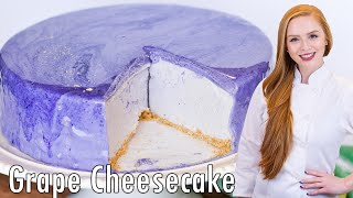 No Bake Grape Cheesecake with Mirror Glaze by Tatyana's Everyday Food