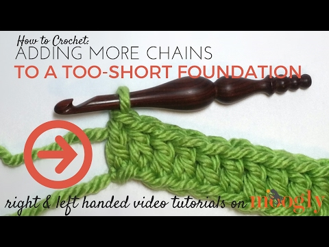 How to Crochet: Adding More Chains to a Too-Short Foundation (Right Handed) (видео)