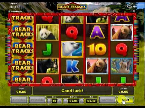 Bear Tracks slot min bet x10