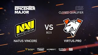Natus Vincere vs Virtus.pro, EPICENTER Major 2019 CIS Closed Quals , bo3, game 1 [Adekvat & Smile]