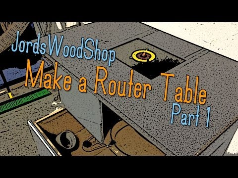 Make Your Own Router Table / Router Cabinet - Part One (the cabinet)