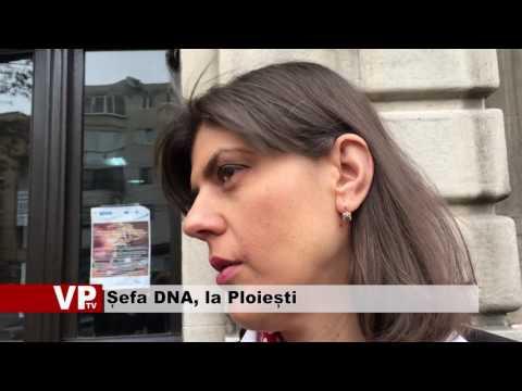 Șefa DNA, la Ploiești