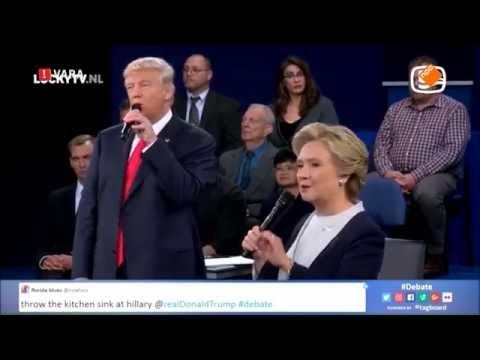 Clinton y Trump 'cantan' a dúo; estallan las redes