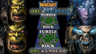Grubby | Warcraft 3 The Frozen Throne | Orc v NE and Orc v UD - The Ultimate Request - Turtle Rock