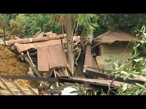 عشرات القتلى إثر انزلاقات للتربة في سريلانكا - فيديو