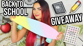 Hey Blushers! Here is my Back To School Giveaway! In this video I will be giving away a Penny Board and a bunch of super cute School Supplies! There will be one lucky winner! Make sure you click on the link down below to officially enter! I wanted to do a Back To School Giveaway for you guys because you are all amazing! Let me know what other Back To School videos you want me to do! Love you all and good luck!xoxo LeahENTER THE GIVEAWAY HERE: https://goo.gl/wgEPqm-Giveaway is International-Giveaway ends on September 4, 2017-Make sure you have your parents permission if you are under 18-Good Luck!I N S T A G R A Mhttp://instagram.com/keepcalmandblushonS N A P C H A Thttps://www.snapchat.com/add/blushonandonT W I T T E Rhttps://twitter.com/BlushOnAndOnF A C E B O O Khttps://www.facebook.com/keepcalmandblushonP I N T E R E S Thttp://pinterest.com/leah_pripps/♡Lens I use: http://amzn.to/2dbkbr0Earn cash back with Ebates: https://www.ebates.com/r/KEEPCA26?eeid=28187
