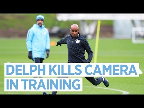 Video: Fabian Delph Kills a Camera and Kyle Walker runs away from Training | Man City