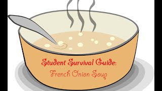 ----------------------------------------------------------------------------------------Welcome to the student survival guide!Watch and learn how to easily make french onion soup on the cheap!----------------------------------------------------------------------------------------Credits:-----------------------------------------Music by: Sirius Beat - EscapeLink: http://goo.gl/sgKWCJMusic by: Sirius Beat - Inner SunLink: http://goo.gl/7PfA6s