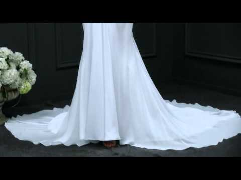 Stunning Chiffon V-neck Mermaid Wedding Dress With Beaded Lace Appliques -- AdasBridal ( WWD73095)