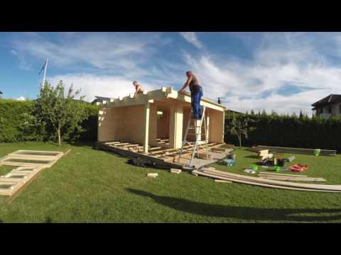 Welches ist der einfachste Weg ein hölzernes Gartenhaus zu bauen?