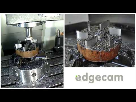 Edgecam driving the Mazak VCN530 with Iscar Tools at MACH2018 (видео)