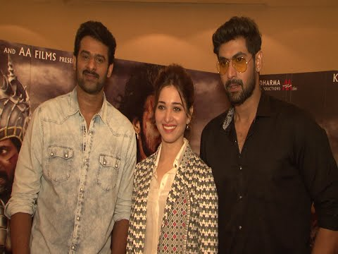 Prabhas, Rana Daggubati & Tamannaah Bhatia At Interview With Starcast Of Film Bahubali