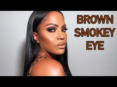 BROWN SMOKEY EYE MAKEUP TUTORIAL | MAKEUPSHAYLA