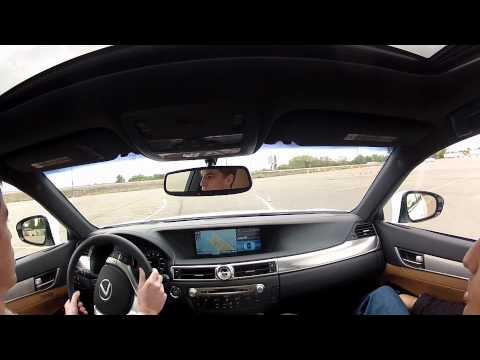 Greg Autocrossing The Lexus GS F Series