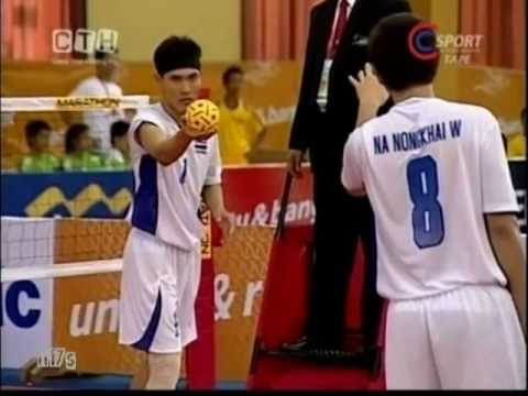SepakTakraw SEA Games 2011 Indonesia-Thailand Men's Team -B