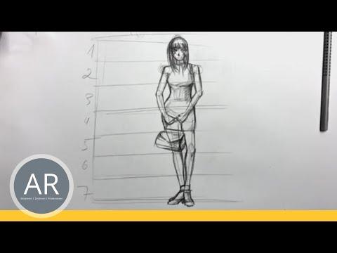 Zeichnen lernen  – Aufbau einer weiblichen Figur Teil 2 – Akademie Ruhr Tutorial
