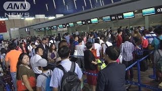 """「日本はサービスが良い」""""爆買い""""空港は大混雑"""