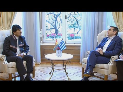 Ο πρωθυπουργός υποδεχεται τον Πρόεδρο της Βολιβίας