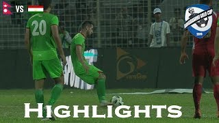 Nepal vs Tajikistan - Highlights - Bangabandhu Gold Cup 2018