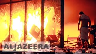 Protesters stormed Paraguay's Congress building and set it on fire after a secret Senate vote to approve a bill that would allow ...