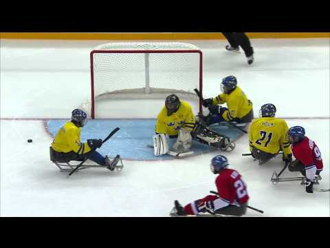Czech Republic v Sweden full game | Ice sledge hockey | Sochi 2014 Paralympic Winter Games