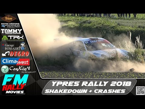 Ypres rally 2018 | SHAKEDOWN + QUALIFYING STAGE | Crashes - Hot Moments [HD]