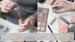 How To Declutter Your Makeup Collection   The Anna Edit