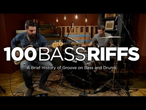 bass - 100 Bass Riffs is a brief history of groove performed on bass guitar and drums. Marc Najjar of CME and Nate Bauman of Reverb.com put together this incredible followup to Chicago Music Exchange's...