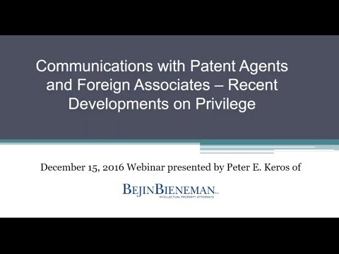 Communications with Paten…