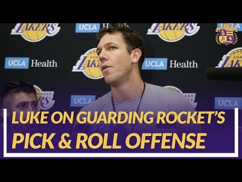 Video: Lakers Nation Interview: Luke Walton Talks Matchup Against The Houston Rockets