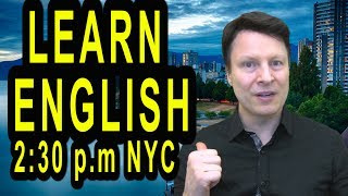 lesson starts at 15 minutes https://www.youtube.com/watch?v=T-YeRko4IDwcontact Steve: http://www.privateenglishportal.com/contact-stevefacebook: http://facebook.com/englishwithsteveinstagram: http://instagram.com/englishwithsteve