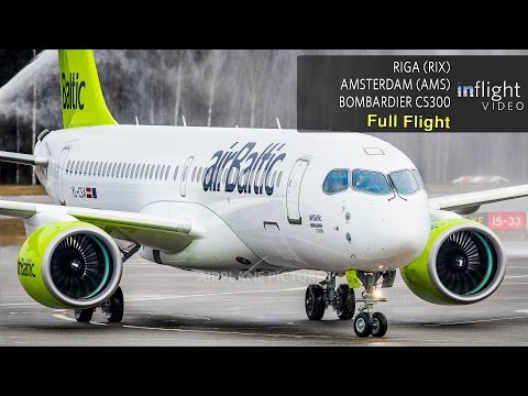 Video airBaltic Bombardier CS300 Inaugural Full Flight | Riga to Amsterdam (with ATC) download in MP3, 3GP, MP4, WEBM, AVI, FLV January 2017