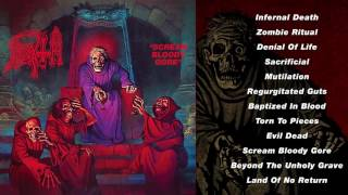 Full stream of DEATH's infamous debut 'Scream Bloody Gore.' 2016 reissue out now on 2CD/LP/Deluxe 3CD/Deluxe 2xLP...