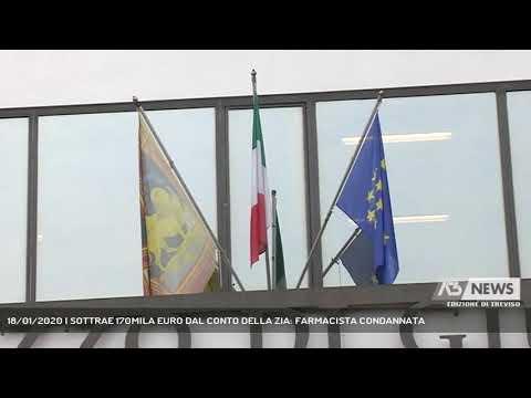18/01/2020 | SOTTRAE 170MILA EURO DAL CONTO DELLA ZIA: FARMACISTA CONDANNATA