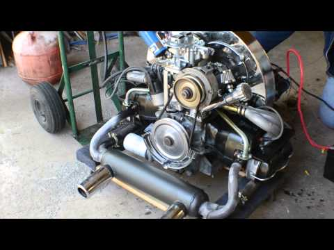 1776cc AirCooled VW Motor with straight cut gears and big valve heads.
