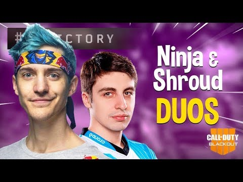 Ninja and Shroud Crush Duos!! - COD Black Ops 4 Blackout Gameplay