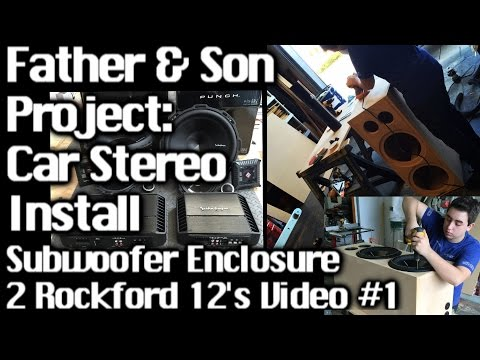 Father & Son Project – Sound System Install GMC Yukon  2 12's – Speaker box Video 1