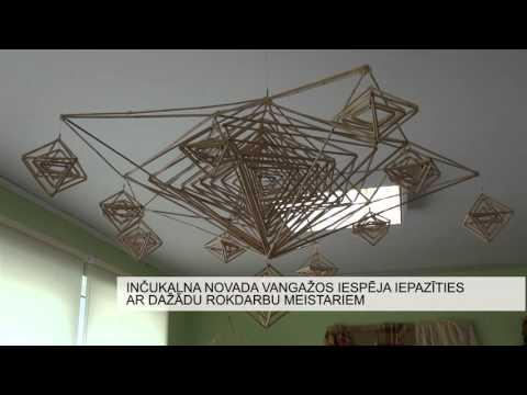 Inčukalna novada Vangažos iespējams iepazīties ar dažādu rokdarbu meistariem