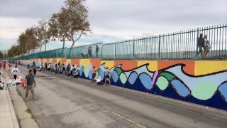L.A. Works Day 2015: Volunteers Paint a Mural in 19 Seconds! (Timelapse)