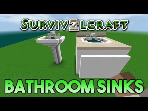 Survivalcraft 2: How to Build a Bathroom Part 2 | Working Sinks