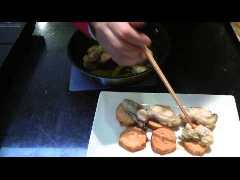 仙台麸と牡蠣のカナッペ
