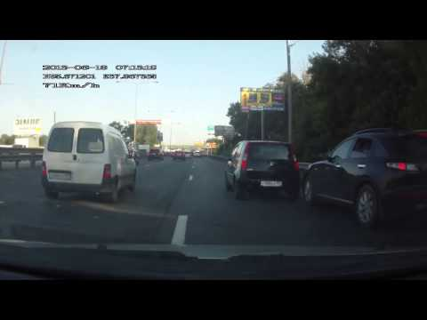 Russian dash cam captures Infinity's hit-and-run