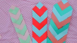 Paper Chevron Bookmark Tutorial - YouTube