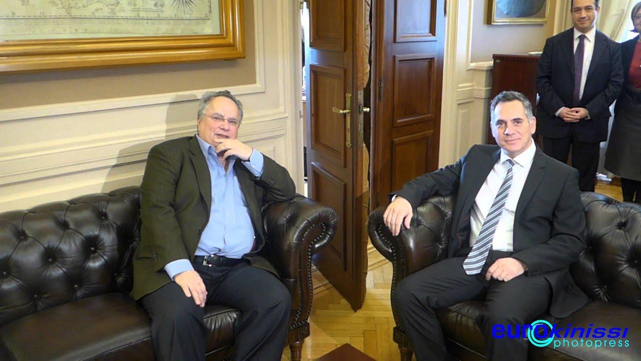 Συνάντηση Ν. Κοτζιά με τον Κύπριο πρόεδρο του ΔΗΚΟ Ν. Παπαδόπουλο