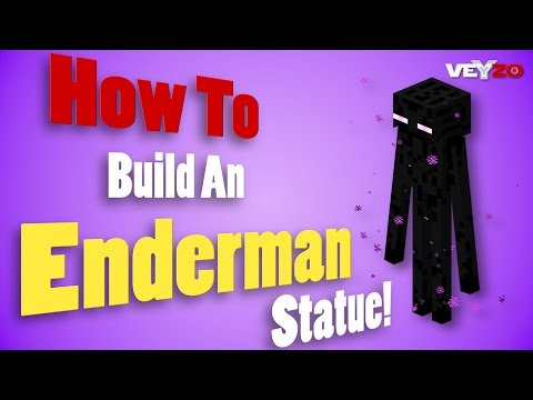 Minecraft - How To Build An Enderman Statue How To Make An Enderman Statue
