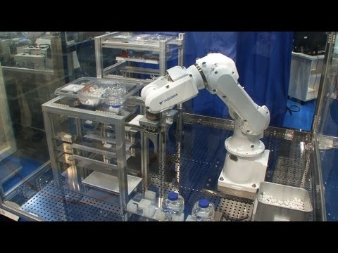 Diginfonews - Laboratory animal management robot can care for 30000 mice (http://www.diginfo.tv/v/13-0053-r-en.php) 12/7/2013 INTERPHEX JAPAN Nikkyo Technos, Yaskawa Elec...
