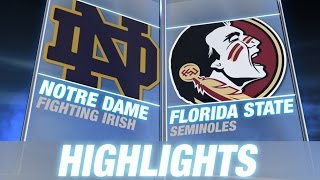 Notre Dame vs Florida State | 2014 ACC Football Highlights