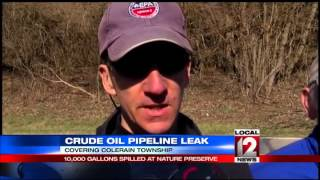 Oil Pipeline Spill At Oak Glen Nature Preserve