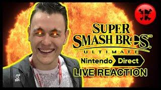FULL LIVE REACTION to Super Smash Bros. Ultimate Direct 11.1.18 | RogersBase Smash Direct Reaction